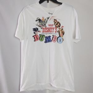 Walt Disney's Dumbo Movie White T Shirt EUC Sz XL